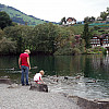 Gerda, Switzerland - Mother & Child at Lake