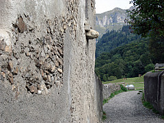 Gerda, Switzerland - Village Path + Retaining Wall