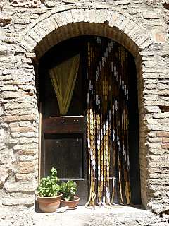 Italy, Assisi - Curtain Door