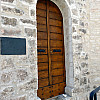 Italy, Assisi - New Wood Door