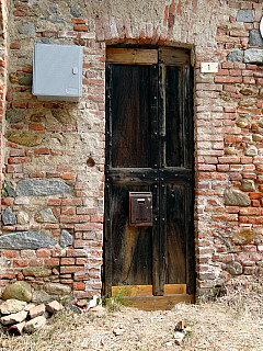 Italy, Biella - Wooden Door