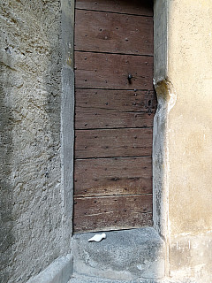 Italy, Miagliani - Narrow Wooden Door