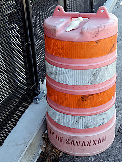Savannah, Georgia - Traffic Barrel