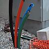 Minneapolis - Black, Red, Blue Poles