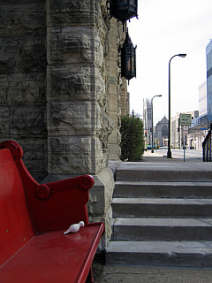 Minneapolis - Red Church Bench