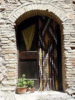 Italy, Assisi - Curtain Door