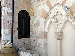 Italy, Assisi - Wooden Barrel and Arch