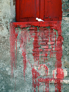 Italy, Rome - Red Shutter Detail