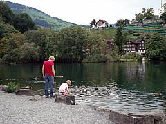Gerda, Switzerland - Mother & Child at Lake