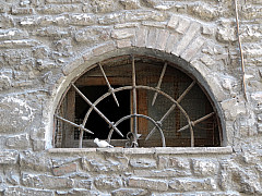 Italy, Assisi - Arch Spike Window