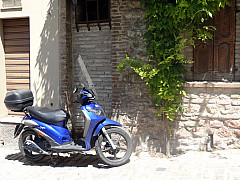 Italy, Assisi - Blue Scooter