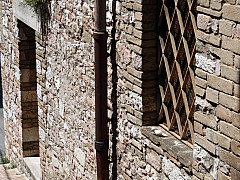 Italy, Assisi - Brick Alley