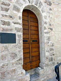 Italy, Assisi - New Wood Door