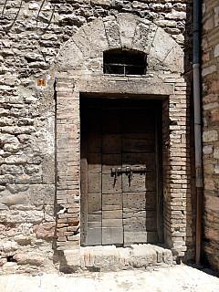 Italy, Assisi - Roman Door