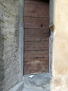 Italy, Miagliani - Narrow Wooden Door