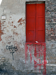 Italy, Rome - Red Shutter