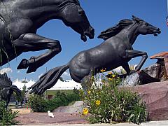 DNC - Broncos Statue
