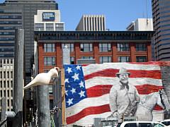 DNC - Building Flag Painting